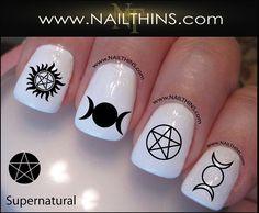 Supernatural Nail Decal symbols Nail Designs by NAILTHINS on Etsy, $3.50