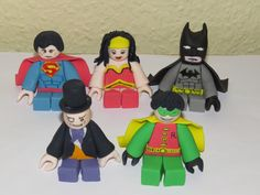 How to make Lego Batman – Not in English, but has plenty of photos (only for Batman, not the other characters).