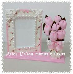 Lindo porta retrato #DISPONIVEL para venda na minha página 👇👇 https://www.facebook.com/ArtesDClaumimoseluxos/