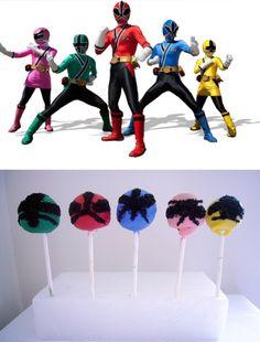 Power Ranger Samurai Cake Pops