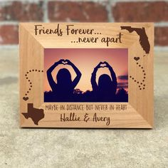 gifts for best friend Personalized Best Friends Picture Frame, Gift for Friend, Long Distance Friendship, Friendship Frame Bff Birthday Gift, Birthday Gifts For Best Friend, Best Friend Gifts, Birthday Presents, Husband Birthday, Boyfriend Birthday, Birthday Quotes, Birthday Cakes, Birthday Parties