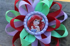 Little Mermaid hair bow Disney hair bow girls hair by Bowtiquefun
