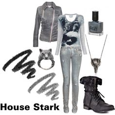 Game of Thrones - House Stark, created by nefatari on Polyvore