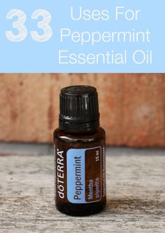 There's so many ways to use peppermint - check out 33 of the most popular uses for peppermint essential oil for around your home and health!