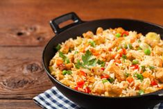 Chicken Fried Rice: This easy recipe can be made with basic ingredients and it will become one of the great meal on weekends. This chicken fried rice recipe is Recipes Using Rotisserie Chicken, Chicken Breast Recipes Healthy, Baked Chicken Recipes, Rice Recipes, Casserole Recipes, Rice Casserole, Vegetable Fried Rice, Vegetable Dish, Easy Meals