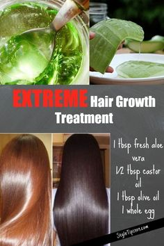 hair remedies Fast Hair Growth Treatment - Use this fast hair growth treatment as often as you possibly can (at least times a week), but the more you use it.the faster you're encouraging hair growth! Extreme Hair Growth, Hair Growth Tips, Natural Hair Growth, Hair Care Tips, Natural Hair Styles, Aloe Vera Gel For Hair Growth, Fast Hair Growth, Diy Hair Growth Oil, Hair Mask For Growth
