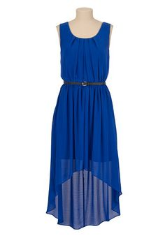 Tired this on, its great!! Belted Chiffon High-low tank dress (original price, $44) available at #Maurices