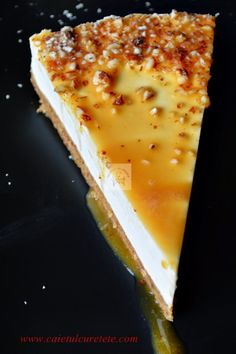 Biscuit dough cake with yogurt and cream and caramel Helathy Food, Cake Receipe, Cookie Recipes, Dessert Recipes, Eastern European Recipes, Romanian Food, No Cook Desserts, Eat Dessert First, Cakes And More