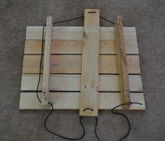 Pallet board jewerlry display with collapsible easel stand