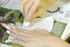 Newsprint Nails: The Easiest, Coolest Nail DIY!