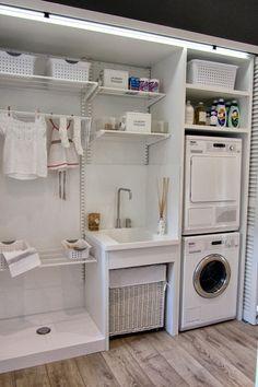 Uma lavanderia bem organizada!