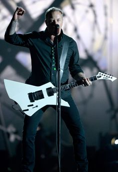 James Hetfield of Metallica performs on the 56th Annual GRAMMY Awards on Jan. 26 in Los Angeles