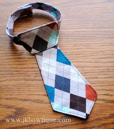 Argyle print  Baby BOY fabric neck tie  Great for by jkbowtique, $7.00