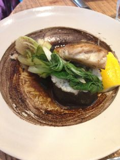 Seaweed Sushi with Hake in Vanilla Butter The Grain Store, Kings Cross