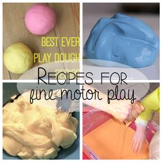 4 simple recipes to make at home that will help your child develop fine motor skills