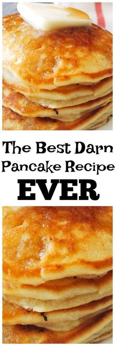 Amazing Melt in Your Mouth Sweet Cream Pancakes is the best pancake recipe around and will be the only pancake recipe you'll ever need! Sweet and dreamy!