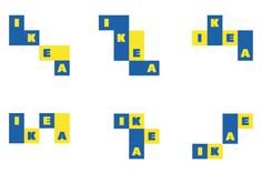 For Icon magazine's Rethink feature, Freytag Anderson were asked to redesign something they thought could do with an update. They chose the IKEA logo. Brand Identity Design, Corporate Design, Business Design, Branding Design, Ikea Logo, Logo Design Liebe, Furniture Logo, Retro Furniture, Dump Furniture