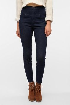 BDG High-Rise Seamed Cigarette Jean - Blue  #UrbanOutfitters