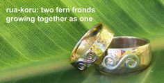maori designs are very strongly influenced by nature. Matching wedding rings express your love...naturally.
