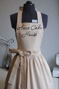 Could personalise this Cake Shop Design, Coffee Shop Design, Bakery Design, Cafe Interior Design, Cafe Design, Restaurant Uniforms, Cute Aprons, Sewing Aprons, Apron Designs