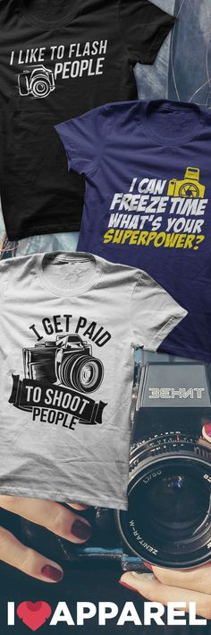 Buy Any 2 Items And Get FREE US Shipping. Check out our collection of photography shirts.