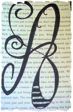 sharpie letters on a page.  maybe add glitter.
