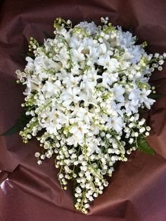Wedding Bouquet Very Similar To Duchess Kate's, Teardrop With White Hyacinth & White Lily Of The Valley