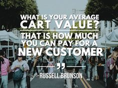 The key metric to look for in a front end funnel is what your average cart value is.   How much on average do you make from every single person that orders your front end offer?   That is the magic term, ACV. This is so important because if you know that your ACV is $33 then you know you can spend $33 to give away your front end offer and break even, acquiring a new customer for FREE!