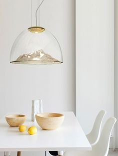 LED blown #glass pendant #lamp MOUNTAIN VIEW -  @AxoLight  http://www.justleds.co.za