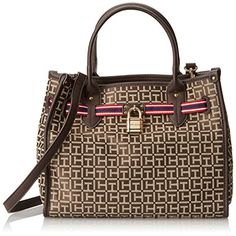 Tommy Hilfiger Heritage Lock Monogram Jacquard Trim Shoulder Bag,Dark Chocolate/Ecru,One Size Tommy Hilfiger http://www.amazon.com/dp/B00LADF8CQ/ref=cm_sw_r_pi_dp_5xo-tb1DSCVCS