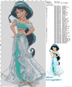 Princess Jasmine cross stitch pattern