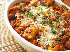 Cheesy Tortellini Bake...made this tonight and used vodka marinara sauce instead and it worked out well!