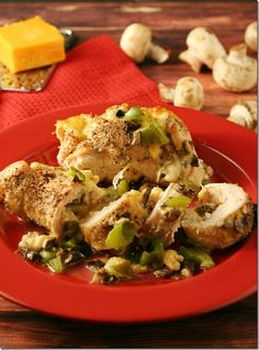 Two Cheese and Vegetable Stuffed Chicken | Yours And Mine Are Ours