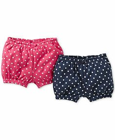 Carter's Baby Girls' 2-Pack Polka-Dot Shorts - Kids Baby Girl (0-24 months) - Macy's