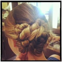 Low fishtail braided crown