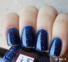 """BEST SELLER. Dark blue nail polish. by urbanlacquer on Etsy """"Only ships to United States"""" NOOOOOOOOOOOOOOOOO Why can't I find a 3-free color like this that I can actually GET anywhere?"""