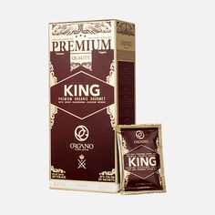 Organo Gourmet Organic King of Coffee is a rich medium dark arabica coffee and one of the best organic coffee with the praised and delicate spores of the Ganoderma mushroom for that added antioxidants benefits. Buy Coffee Beans, Coffee To Go, Best Organic Coffee, Coffee Zone, Beverages, Delicate, Good Things, King, Gold