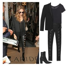 """""""Cara Delevingne"""" by getxthexlook ❤ liked on Polyvore featuring Yves Saint Laurent, GetTheLook and CaraDelevingne"""
