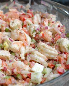 Shrimp Salad Recipes, Seafood Salad, Shrimp Dishes, Avocado Recipes, Fish Recipes, Seafood Recipes, Cooking Recipes, Healthy Recipes, Shrimp Salads