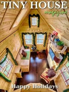 Cute tiny house already for Christmas.