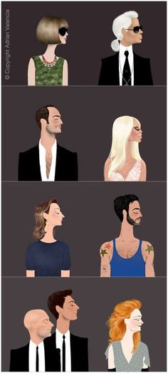 Anna, Karl, Tom, Donatella, ?, Marc, Dominico and Stefano, Grace.