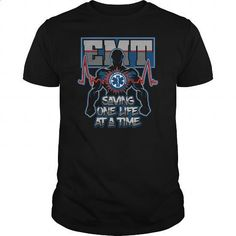 EMT Emergency Medical Technician Saving One Live at a Time Tshirt - #mens #band t shirts. MORE INFO => https://www.sunfrog.com/Jobs/EMT-Emergency-Medical-Technician-Saving-One-Live-at-a-Time-T-shirt-Black-Guys.html?60505