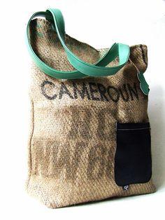 cafe cameroun • recycled bag