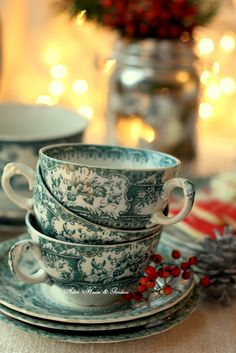 Teal English Transferware via Aiken House & Gardens Tea Cup Saucer, Tea Cups, Contemporary Dinnerware, Green China, English China, Vintage Cups, Christmas Tea, Chocolate, Food Plating