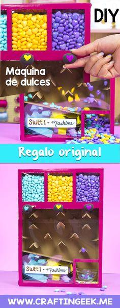 Como hacer una maquina de dulces de carton