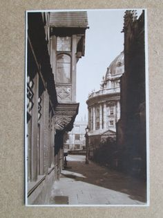 RADCLIFFE CAMERA, OXFORD - REAL PHOTO POSTCARD (PRE-1945) | eBay