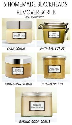 Homemade easy scrubs Anti blackheads and points