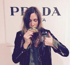 Prada and pizza