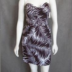 Milly Strapless Dress, Sweetheart Neck! Sz 4 Adorable brown and white Milly dress. Worn a few times and in great condition! No tags. Pet and smoke free home, offers welcome :) Milly Dresses Midi