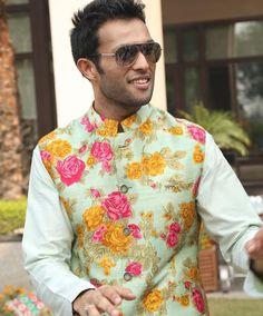 Floral love # waist coat # summer men's fashion